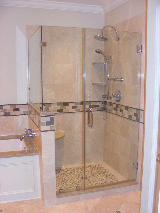 Shower Stall installation | CUSTOM BATH & KITCHEN REMODELING | Sorge & Garthe Tile | NJs Premier ...